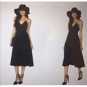 NASTY GAL | Black Midi Fit & Flare Cotton Dress
